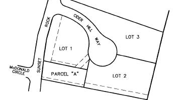 Cider Hill Way.  A three lot subdivision off Sunset Rock Road