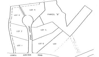 Gregory Circle.  A seven lot subdivision off Lowell Junction Road